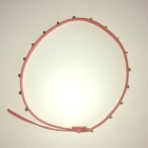 H&M . Thin Studded Belt . Pink/Gld